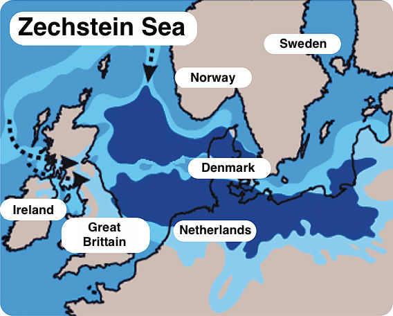 Map Zechstein